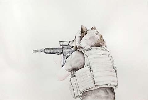 Gun-Toting Wolf Depictions