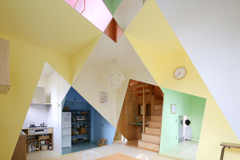 Vibrantly Colored Illusory Interiors