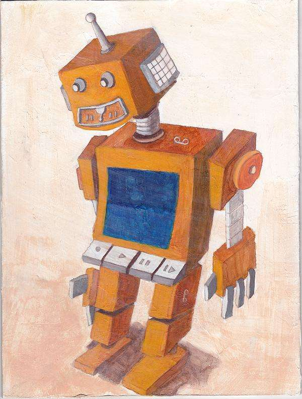 Retro Robot Renderings