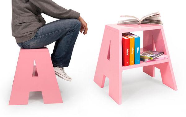 Alphabetical Storage Stools