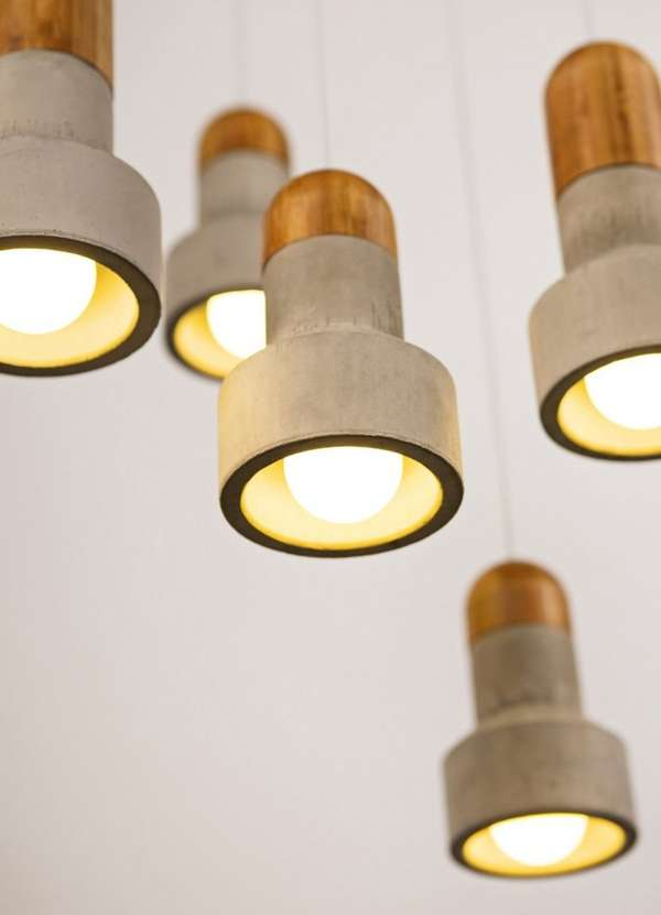 Concrete-Bamboo Lamps