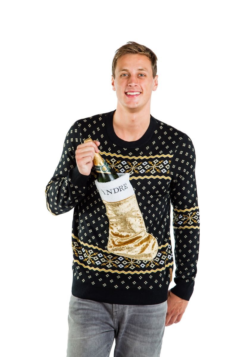 Drink-Holding Holiday Sweaters