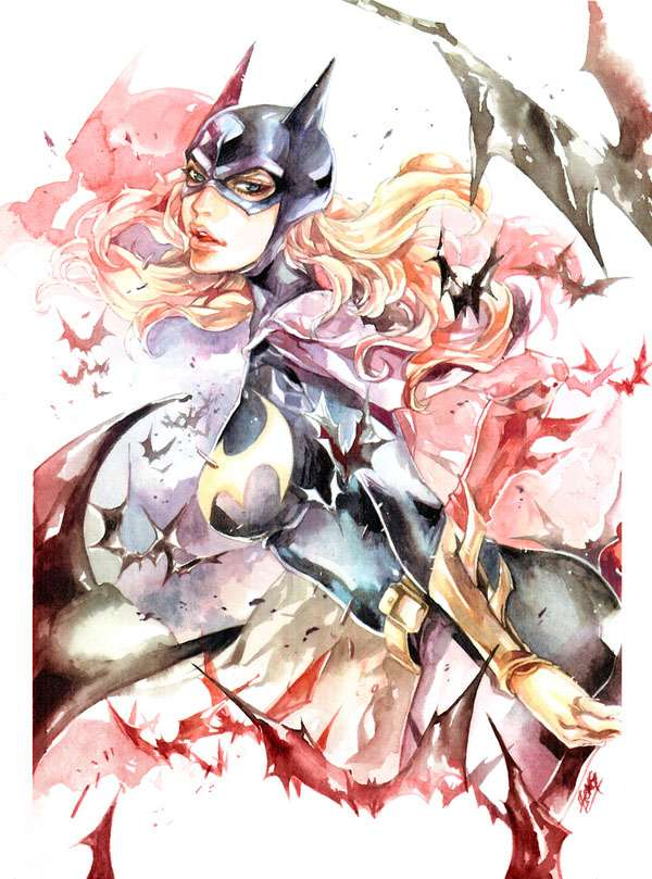 Fanciful Watercolor Superheroes