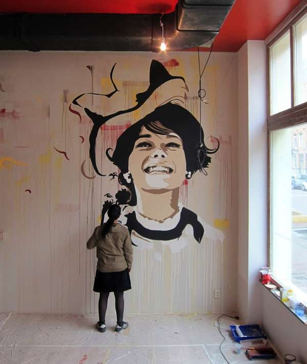 Graffitied Hollywood Femmes