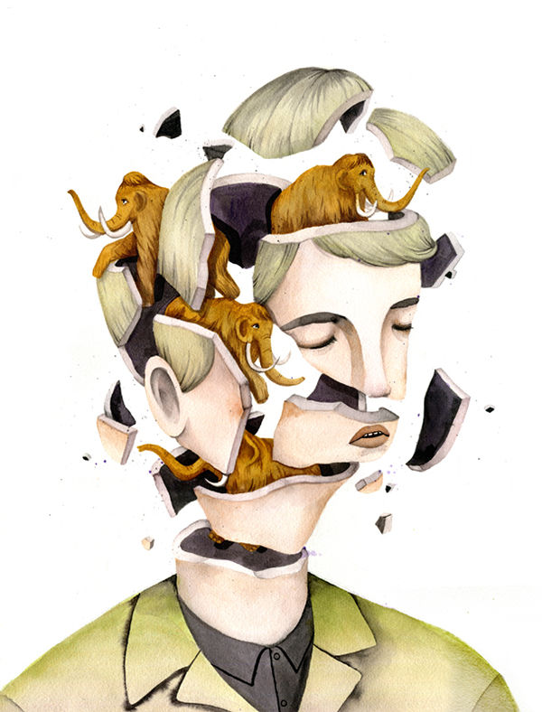 Fragmented Face Illustrations