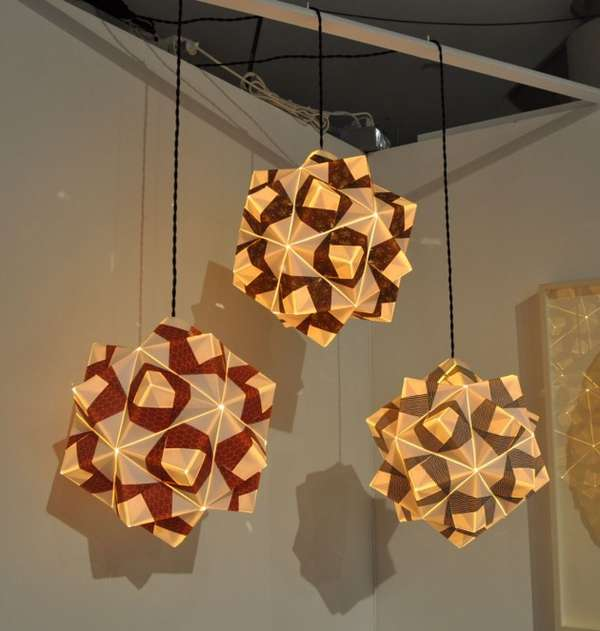 Free-Folded Paper Lamps
