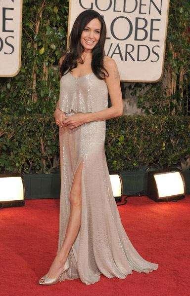 Shimmery Blouson Dresses Angelina Jolie Rocks Vintage