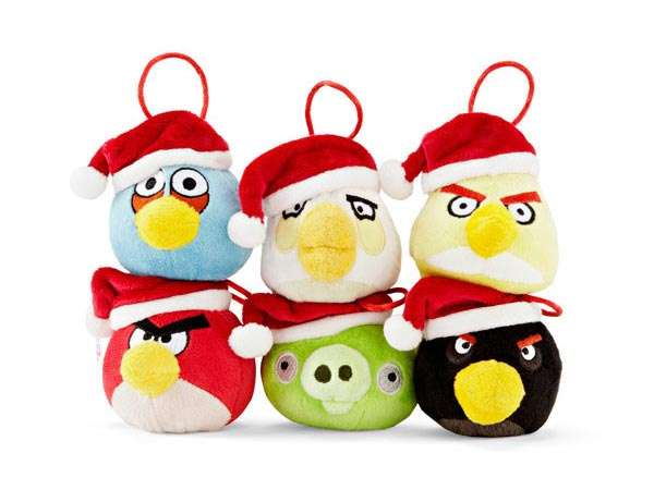 santa avian ornaments - Christmas Angry Birds