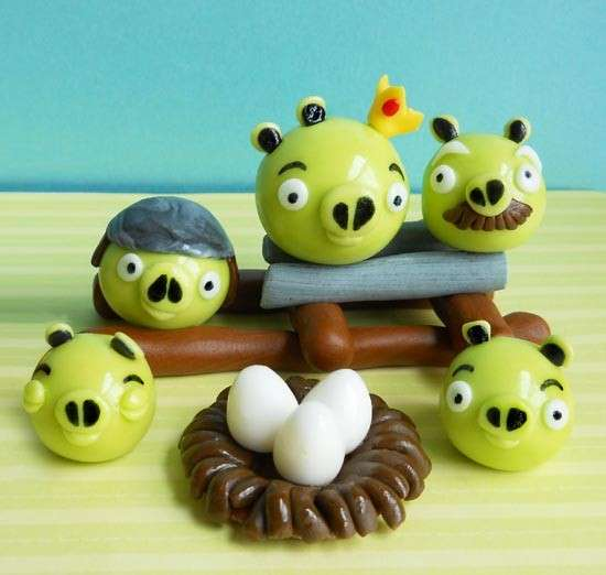 Angry Bird Cake Toppers