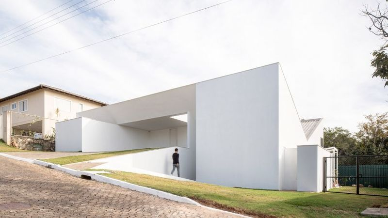 All-White Angular Homes