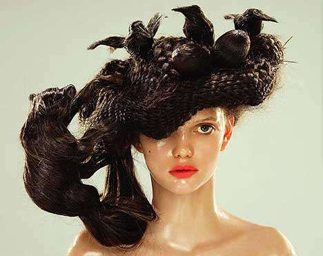 Animal-Inspired Hair Sculptures
