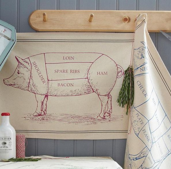 Carnivorous Butcher Cut Towels