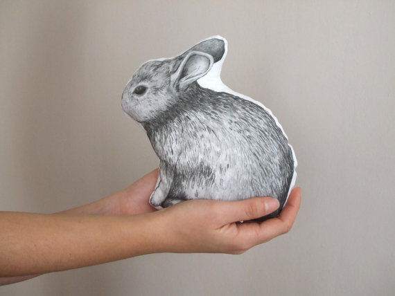 Realistic Rabbit Pillows