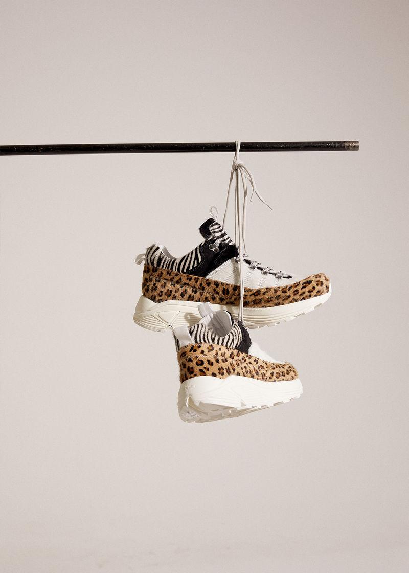 Chic Animal Print Footwear