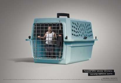 Caged Human Ads