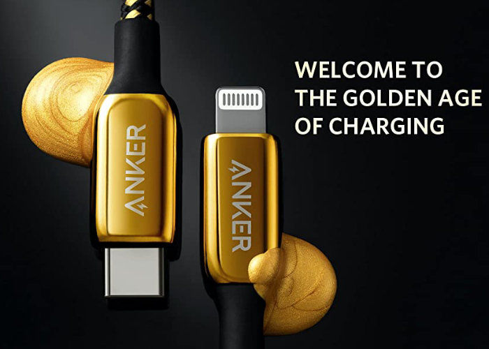 Opulent Gold-Plated Connectivity Cables