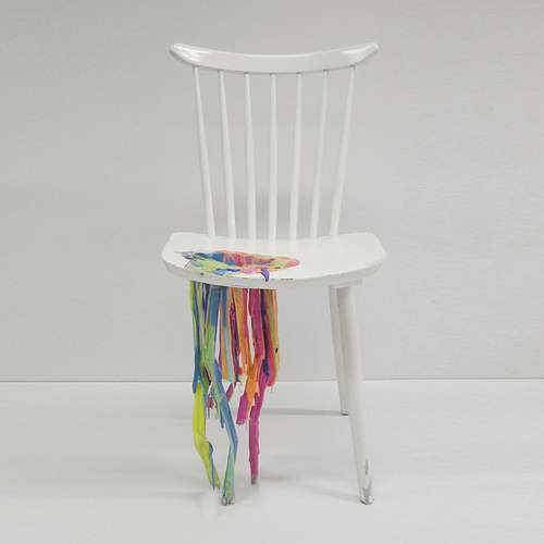 Bleeding Paint Chairs
