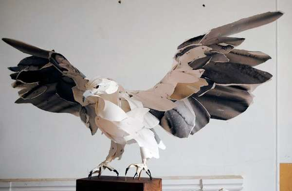 Bird Sculptures paper bird sculptures (update) : anna-wili highfield