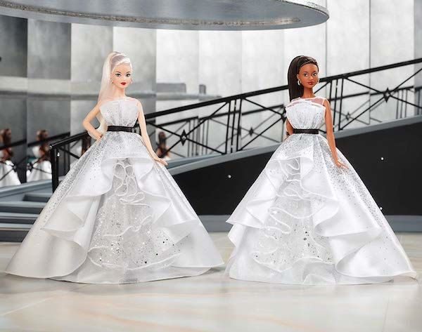 Diverse Luxuriously Dressed Dolls