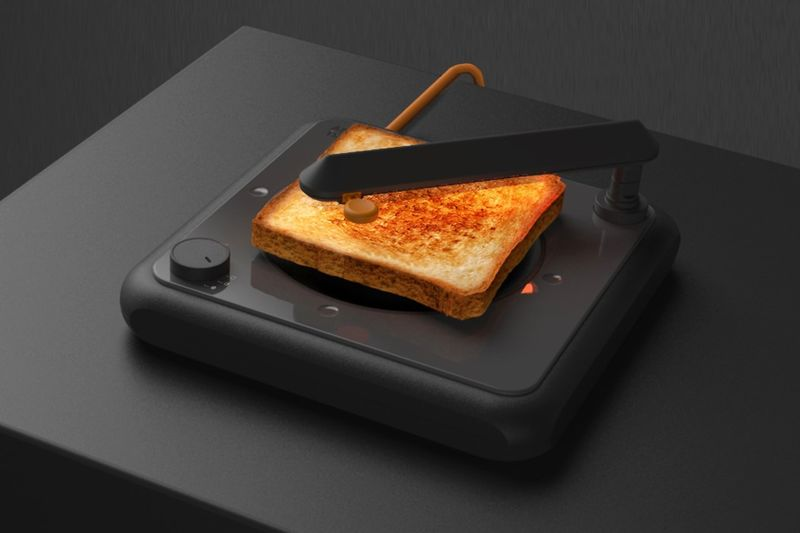 Turntable-Inspired Toasters