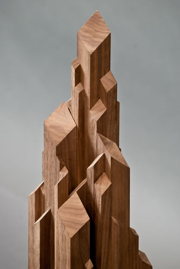 Stalagmite-Like Wooden Sculptures