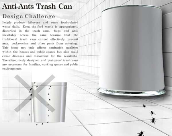 Bug-Killing Waste Bins
