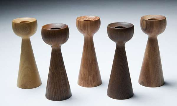 Minimalist Wood-Turning Sculptures