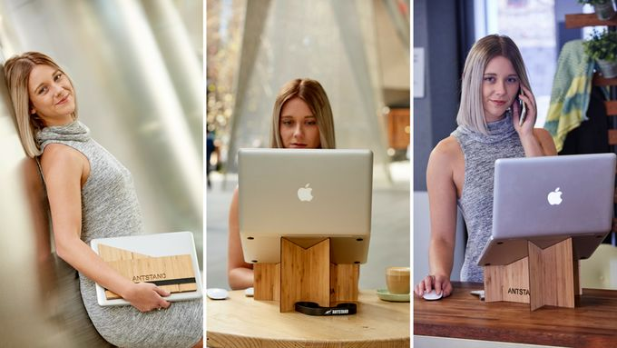 Portable Bamboo Laptop Stands