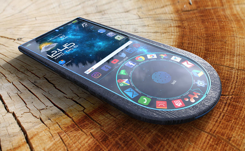 Sculpted Ebony Wood Smartphones