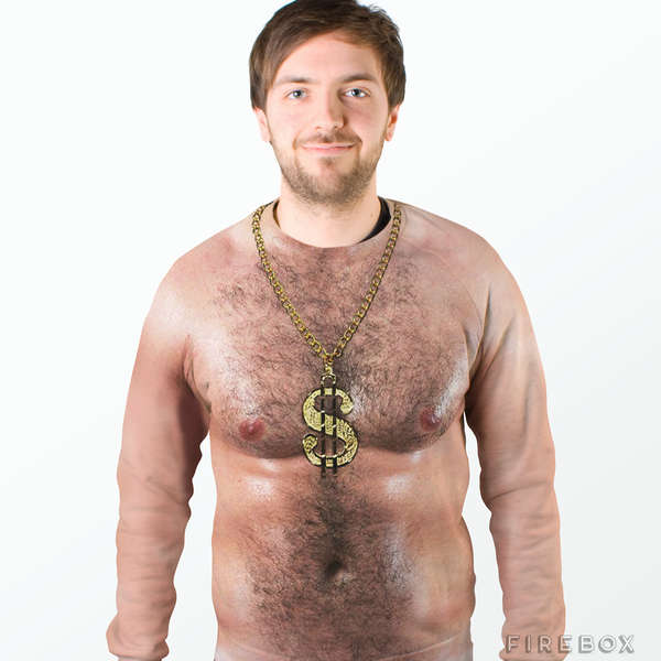 Realistic Chest Hair Sweaters
