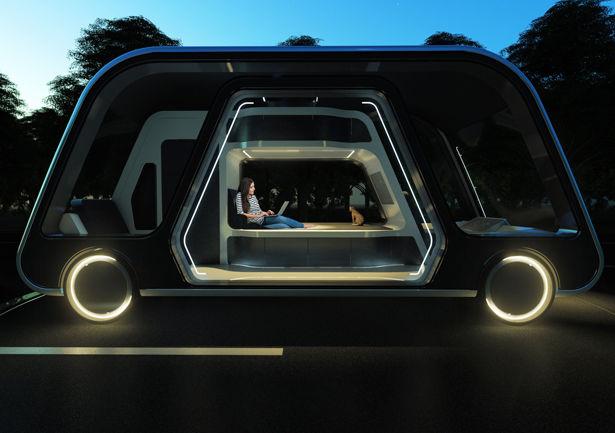Futuristic Mobile Hotel Suites