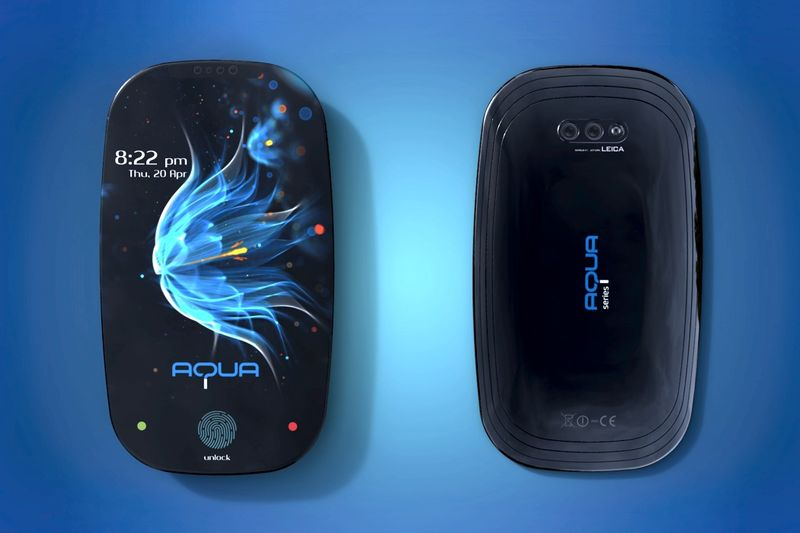 Curved Aquatic Smartphones
