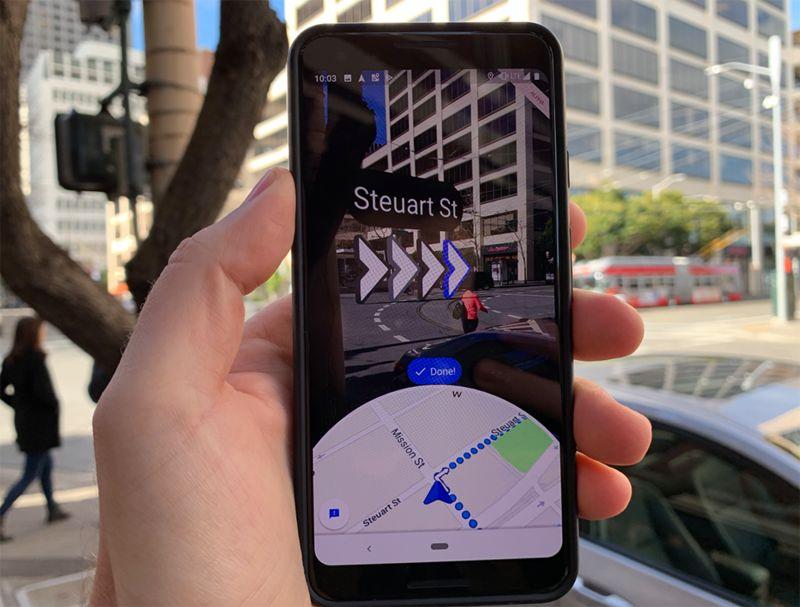 App-Based AR Walking Directions