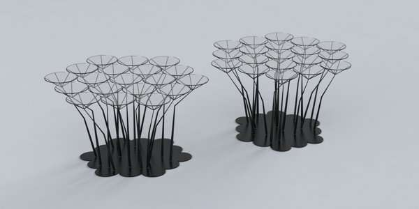 Spiky Stem Side Tables