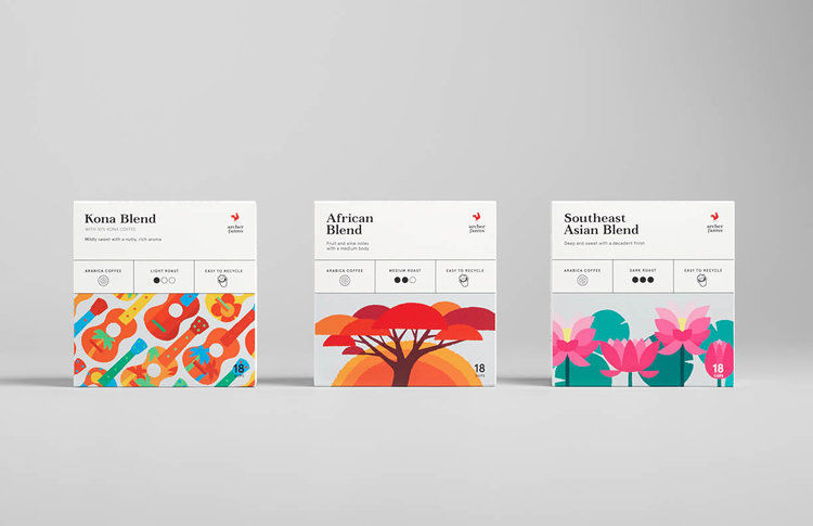 Art-Focused Coffee Branding