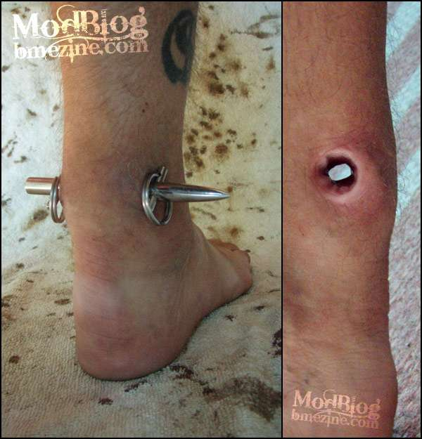 Painful Piercings Mr Tetanus Extreme Achilles Heel Body Modification