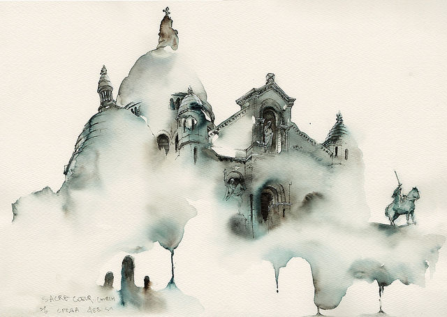 Dreamy Architectural Watercolors