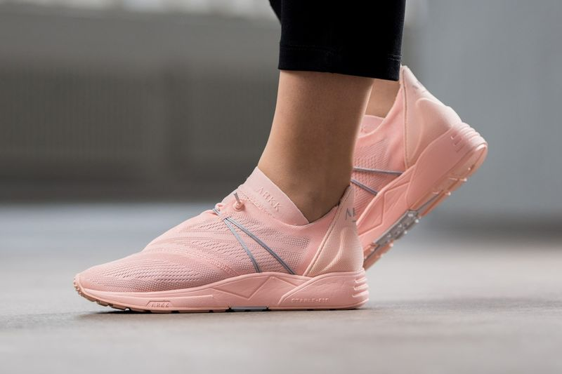 Peach-Hued Mesh Sneakers