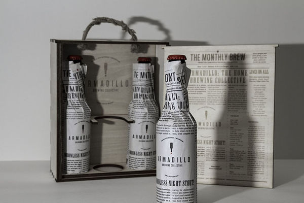 Newspaper Beer Branding