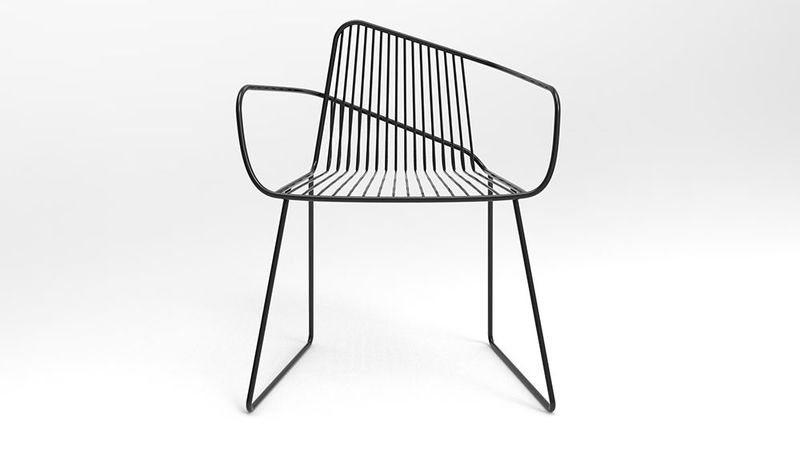 Wireframe-Constructed Chairs