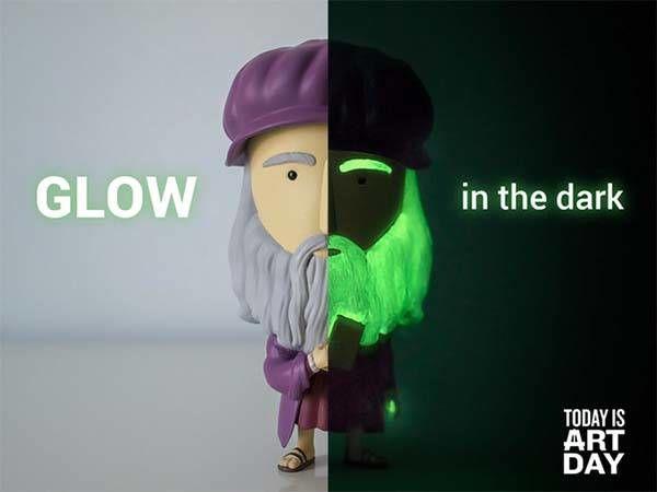 Glow-in-the-Dark Art Figurines