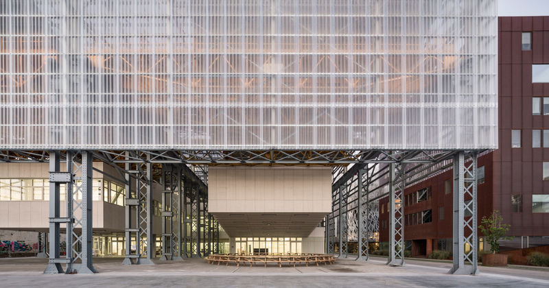 Sculptural Warehouse-Style Art Schools