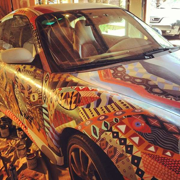 Tribal-Print Sportscars