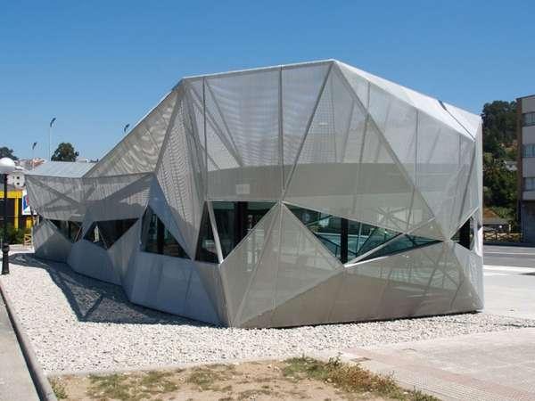 Angular Peek-a-Boo Pavilions