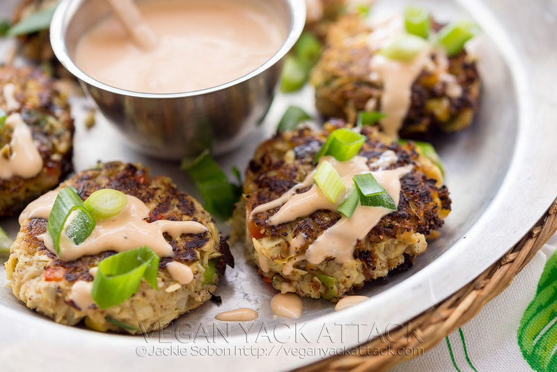 Vegetable-Based Crab Cakes