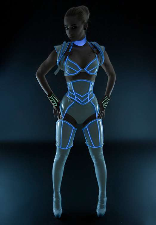 Tron-Inspired Illuminated Costumes