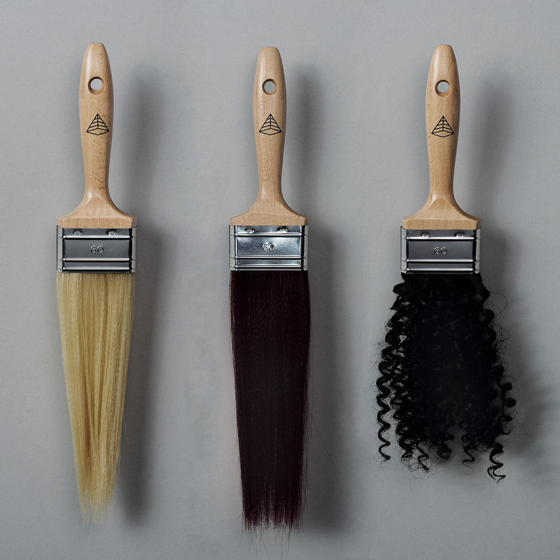 Artificial Human Hair Brushes