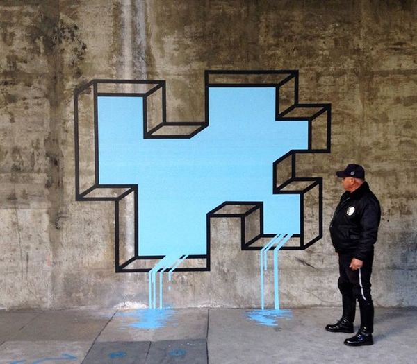 3D Illusion Tape Installations