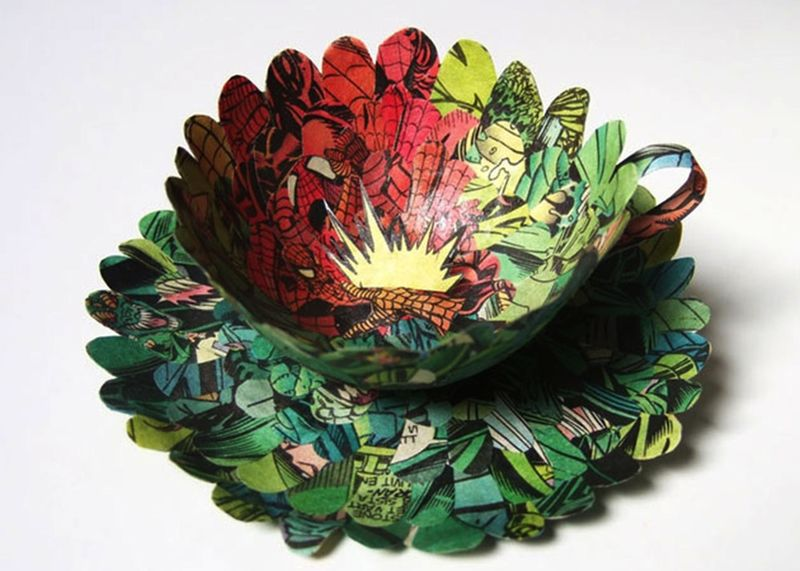 Literature-Made Tea Cups