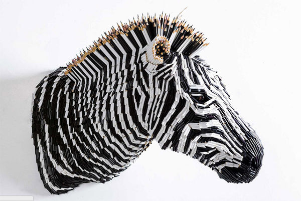 Animalistic Pencil Sculptures